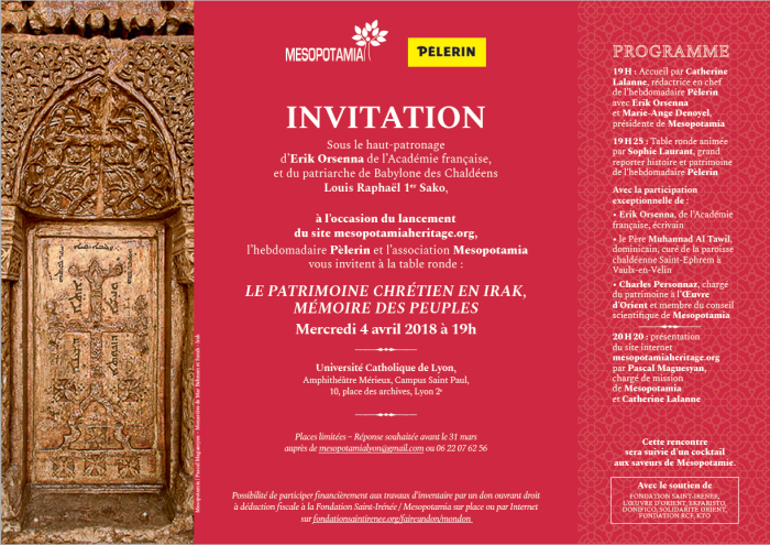 Invitation 4 avril 2018